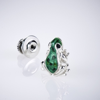 SATURNO / Satsuruno SV pin brooch frog (made in Italy)