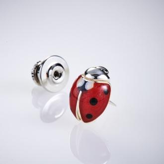 SATURNO / Satsuruno SV pin brooch Ladybug (made in Italy)