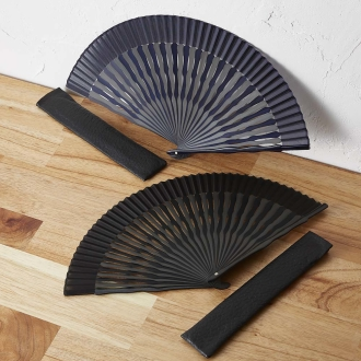 [Men] Shiratakedo alternate folding fan wooden box