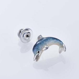 SATURNO / Satsuruno SV針胸針海豚(意大利製造)