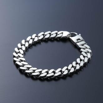 SATURNO / Satsuruno [男性]银手镯(意大利制造)