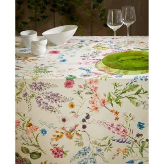 スペイン製花柄テーブルクロス 約150×200cm