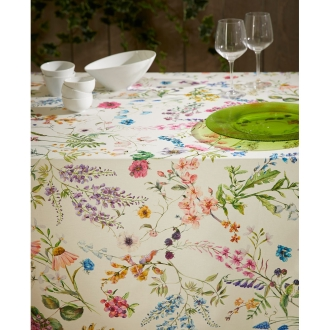 スペイン製花柄テーブルクロス 約150×250cm