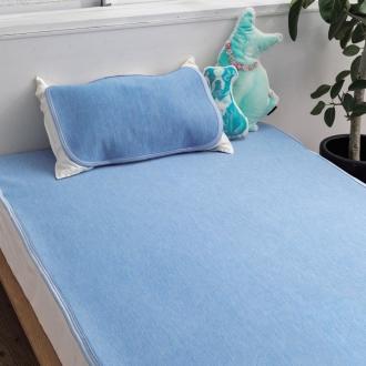 シングル(洗える クールアイス敷きパッド)ブルー