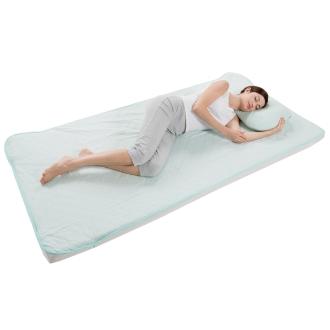 ディノス オンラインショップ通気性・吸汗性に優れた素材のサラサラ ガーゼ敷パッドシーツロゼラベンダー