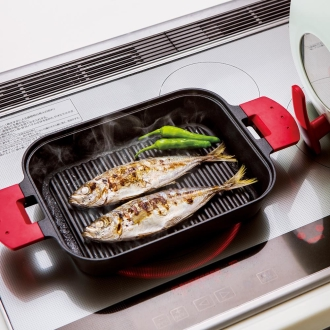 IH對應蒸汽燒烤烤架金屬蓋2件套