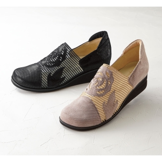 <Miss Kyoko> carefree floral mesh shoes
