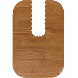 Flooring tone indulge adsorption toilet mat Long (vinyl chloride resin type)
