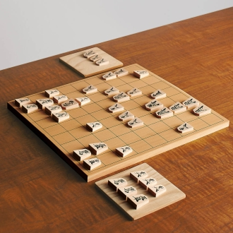 天童駒将棋盤セット(駒台付き)