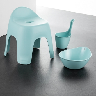Bath chair and put a set of 3 points