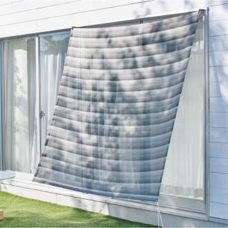 風を通しながら、爽やかな日陰を作る!イチオリシェード 遮光タイプ(日よけシェード)