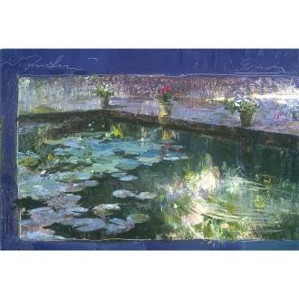 リャド ミニ版画 グラナダの池