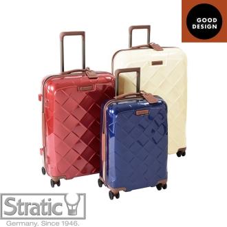 (Lサイズ 4輪/100L/4.36kg)Stratic「Leather & More」日本限定版 ハードスーツケース/キャリーケース 大型(3-9902-75)