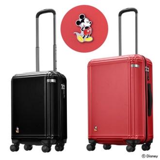 (32L)ace.スタンディングミッキー スーツケース