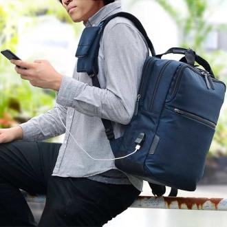 ディノス オンラインショップエンドー鞄/NEOPRO(ネオプロ) CONNECT スマホを充電USBポート搭載バックパックブラック