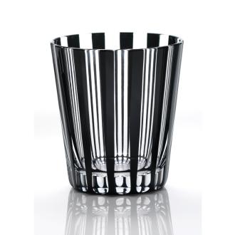 KIKI STRIPE(柾目) オールド 黒の江戸切子グラス[木本硝子]