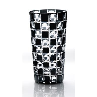 KIKI TAMA-ICHIMATSU(玉市松) タンブラー 黒の江戸切子グラス[木本硝子]