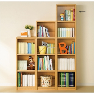 【国産】頑丈がっちり棚板ななめ書棚シリーズ 幅40高さ171cm・5段