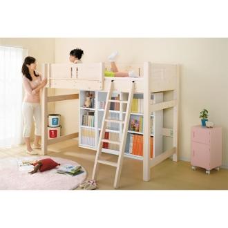 【国産】頑丈がっちり棚板ななめ書棚シリーズ 幅60高さ138cm・4段