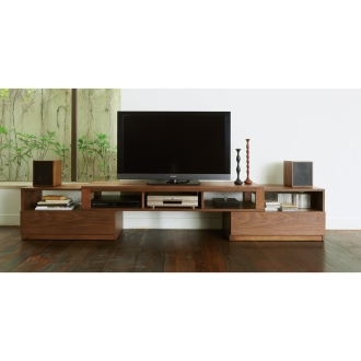 天然木伸長式オープンワイドテレビ台 幅162~253cm