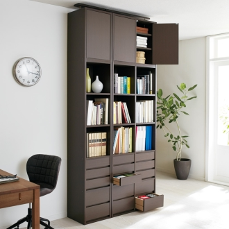 上置き 1列・幅38cm (デスクワークが快適になる本棚 上置き 高さ62~74cm)
