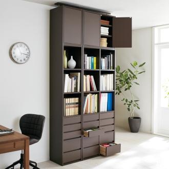 上置き 2列・幅73cm (デスクワークが快適になる本棚 上置き 高さ62~74cm)