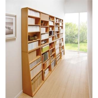 1.5cmピッチ 棚板頑丈薄型書棚 幅150cm 高さ188.5cm