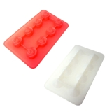 Silicon mold  Diamond and rose  2 pack<rose>