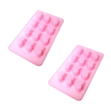 Silicon mold  The heart concolorous 2 set<heart>