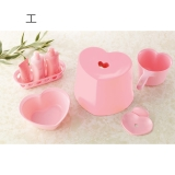 In a set of 5 points of Bath goods at the heart<heart>