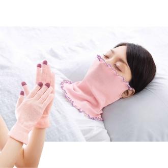 おやすみセット(スキンケア手袋+シルキーロール)