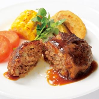 ディノス オンラインショップ北海道産 牛霜降り肉巻ハンバーグ (8食)