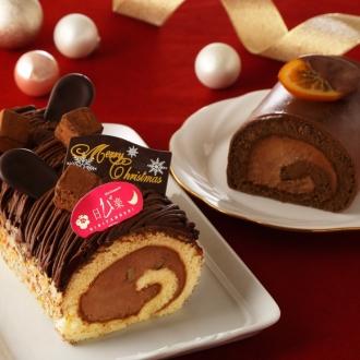 【クリスマスお届け】花月堂 クリスマス生しょこらモンブラン&ショコランジュハーフ (クリスマスケーキ)