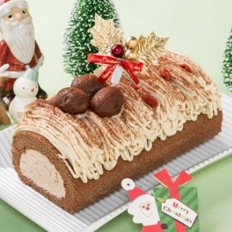 【クリスマスお届け】新杵堂 ブッシュドノエル (約500g) (クリスマスケーキ)