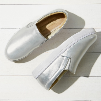 AQUALEATHER (R) / aqua leather slip-on shoes 04