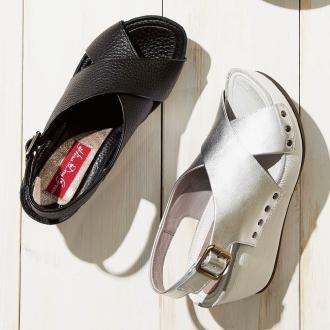Hina Day Green Cross sandals