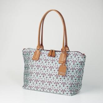ディノス オンラインショップ幾何柄ショルダー付バッグ Mネイビー