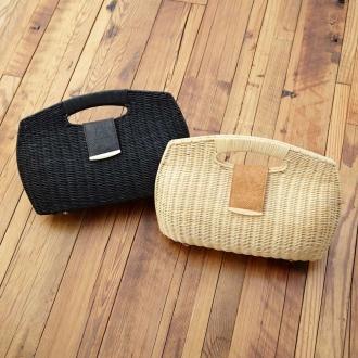Clutch-style basket bag