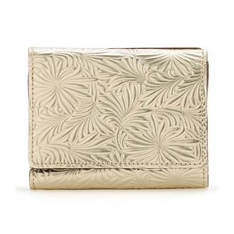 Embossed three-fold wallet