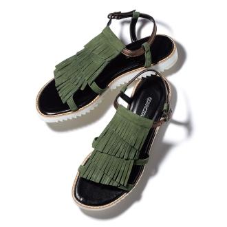 条纹设计运动鞋凉鞋