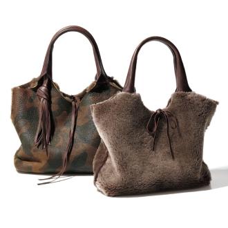 SILVANO BIAGINI /银Nobia Jini的可逆木桐袋(意大利制造)