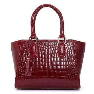 Crocodile handbag Rouge