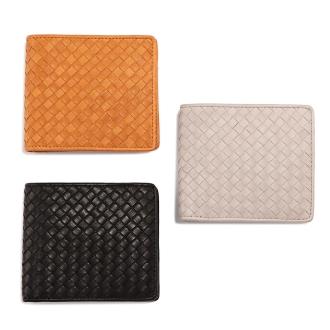 ホースメッシュ 二つ折財布