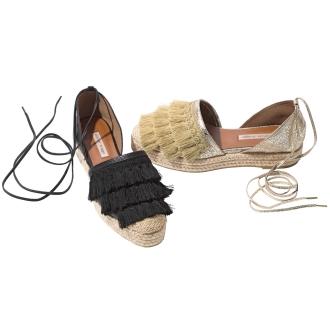 Tassel Tsukai espadrille wedge sandals