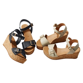 CHIAKI KATAGIRI / Chiaki Katagiri cork wedge sandals