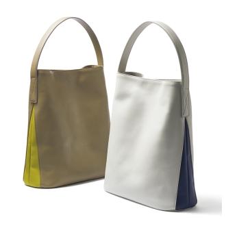 用顏色組合中的一個手柄袋小袋