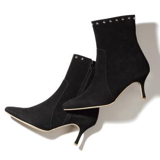 钉头设计短靴
