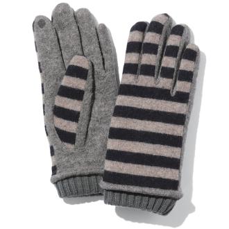 Karyn / Caryn stripe knit glove
