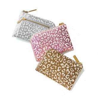 L-shaped zipper compact wallet