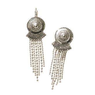 UNE LIGNE / Yunu-Ligne fringe design Earrings (made in France)